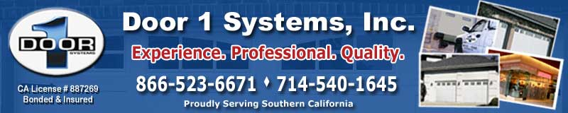 Door 1 Sytems commercial and residential overhead and garage door installations, repair and services